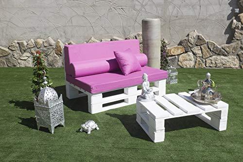 Conjunto 1 Sofa Palet Europeo + 1 Mesa - Interior/Exterior Nuevo A ESTRENAR-Natural