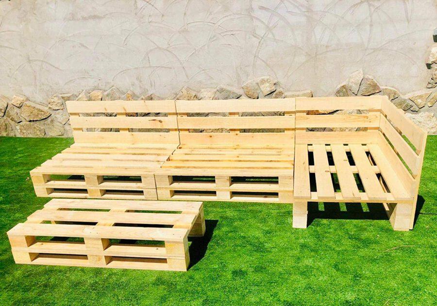 Conjunto RINCONERA con PALETS Europeos + Mesa,Interior/Exterior NUEVOS A ESTRENAR 2.4m X 2m