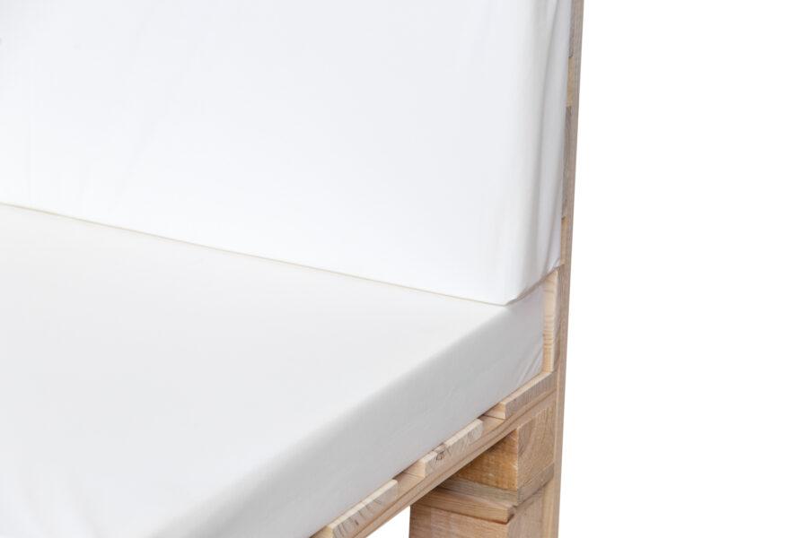 cojines palets blanco muestra detalle