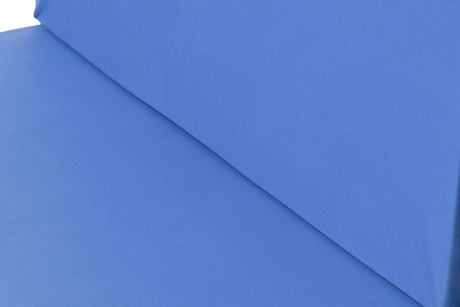 cojines palets color azul muestra detalle