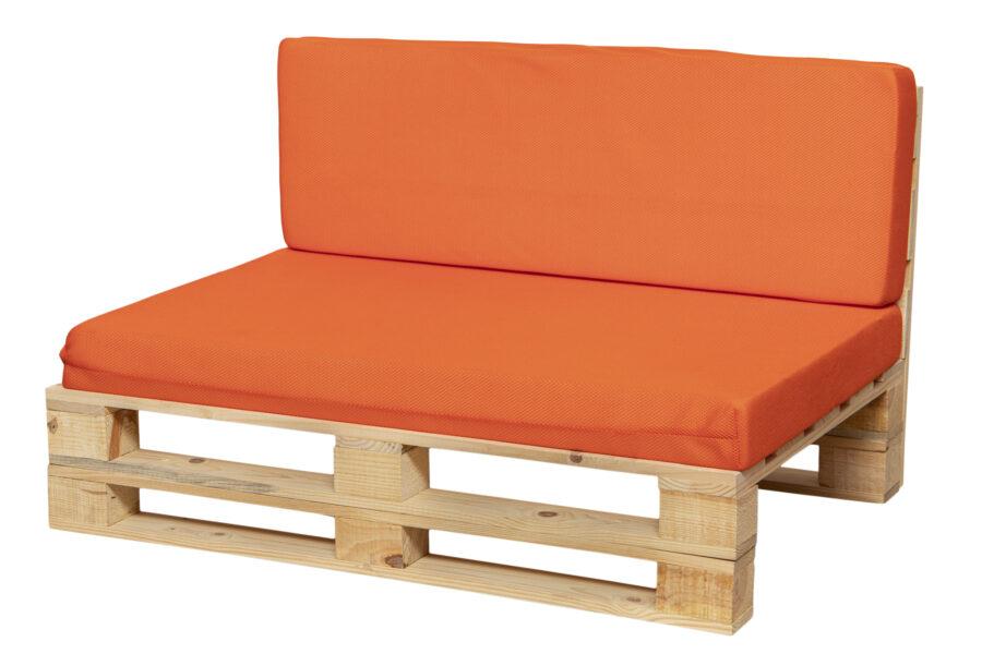 cojines transpirable para sofá color naranja