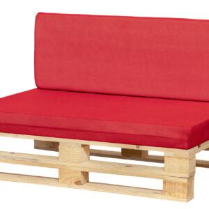 cojines transpirable para sofá color rojo