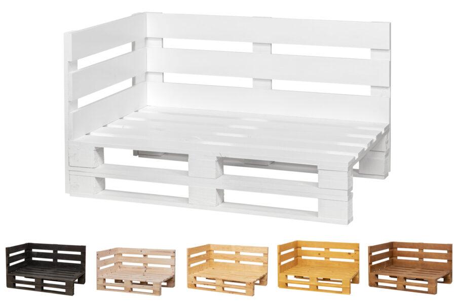 estructura Chaiselong de palets color blanco