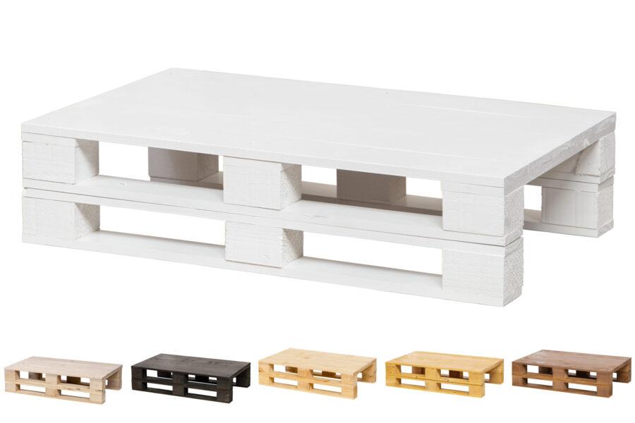 mesa palet blanco