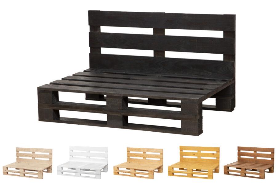 sofa de palets color ebano