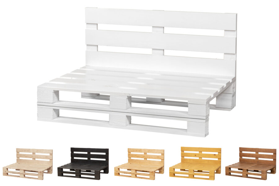 sofa de palets color blanco