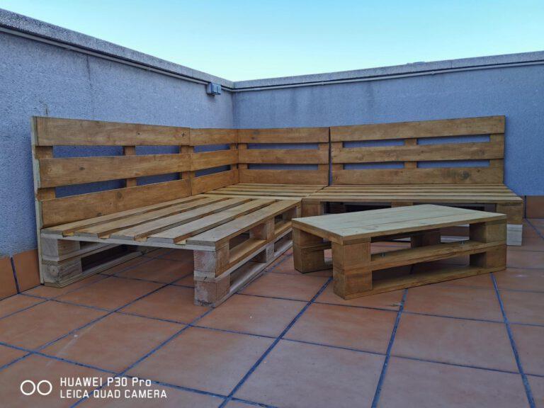 Conjunto rinconera 2 Sofás Palets Europeos (200x200cm) + Mesa (80x48cm) photo review