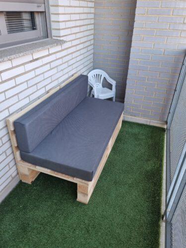 Conjunto Sofa DE PALETS + Set Cojines (Asiento + Respaldo) photo review